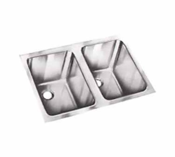 Polar Ware 9102-1R 2-Compartment Super Heavy Weight Drop-In Sink w/ Round Corners