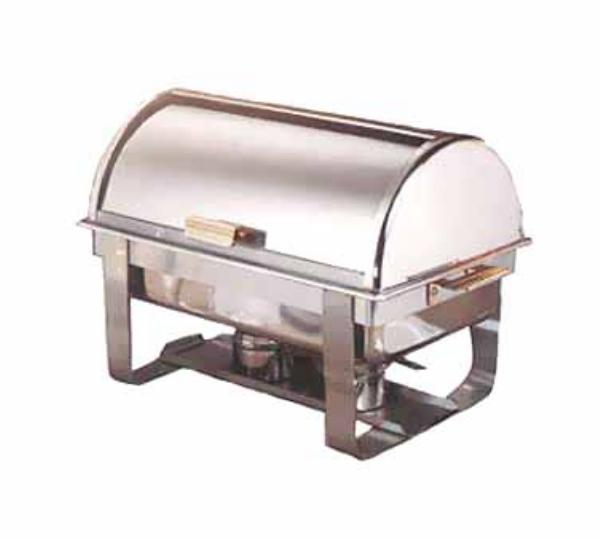 Polar Ware 9595 Americana Roll Top Chafer, Full Size, 8 qt, SS w/ Gold  Accents