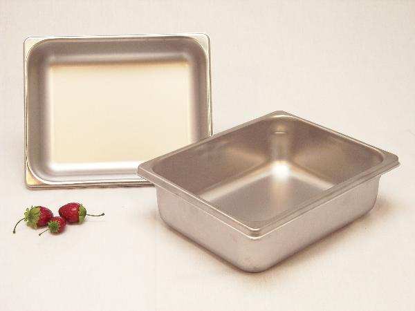 Polar Ware IE121 The Edge Half Size Steam Table Pan, 1-1/4 in Deep, Stainless Steel