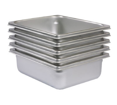 Polar Ware IE234 The Edge Two-Third Size Steam Table Pan, 4 in Deep, Stainless Steel