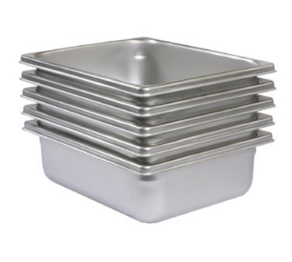Polar Ware IE164 The Edge Sixth Size Steam Table Pan, 4 in Deep, Stainless Steel