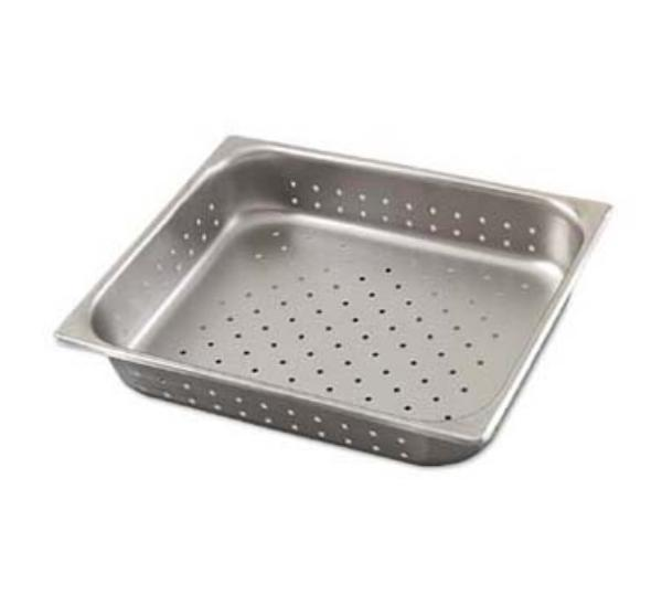 Polar Ware P12106 1/2-Size Perforated Steam Pan, 6-in Deep, 22-Ga. Stainless