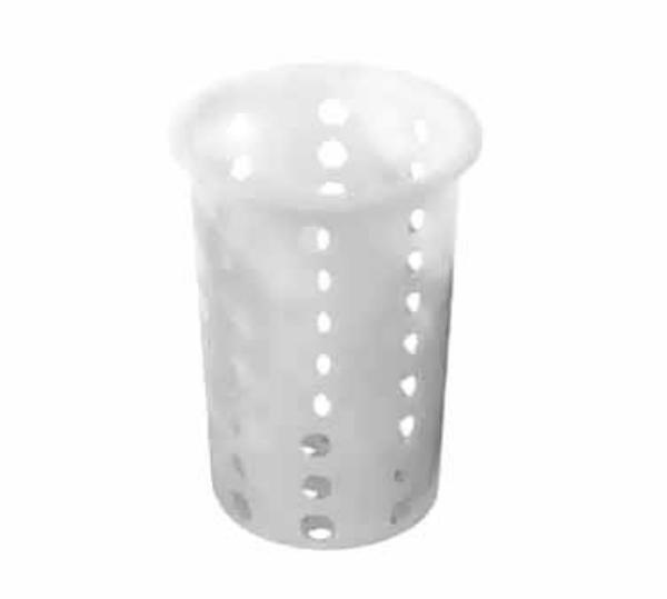 Polar Ware T100P Silverware Cylinder, 4-7/16 in Diameter, Plastic Construction, White