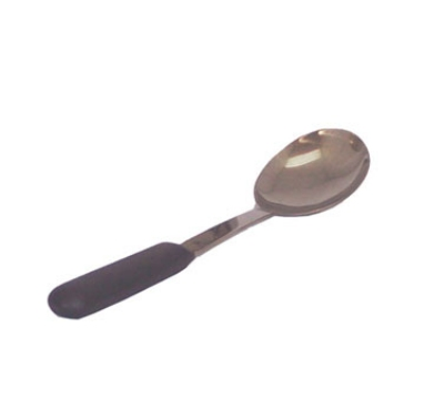 Polar Ware T1628BC 11-5/8 in Solid Spoon, High-Temperature, Stainless Steel, Black Handle