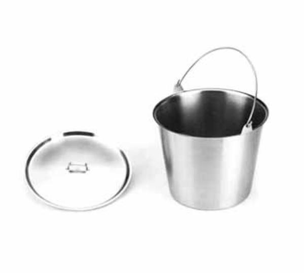 Polar Ware T20N 20 qt Stainless Steel Utility Pail with Bail Handle Restaurant Supply