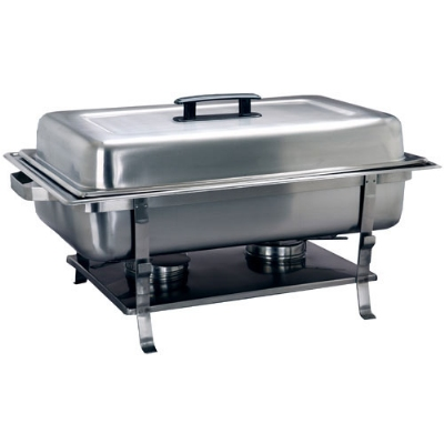 Polar Ware T3535 8 qt Value II Chafer, 24 x 14 x 10 in, Welded Frame, Two Fuel Holders