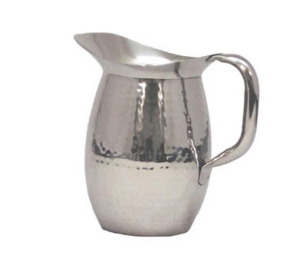 Polar Ware T9157 2 qt Hammered Water Pitcher, Stainless Steel