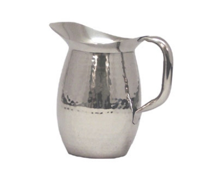 Polar Ware T9157DW 2 qt Hammered Double Wall Water Pitcher Stainless Steel Restaurant Supply