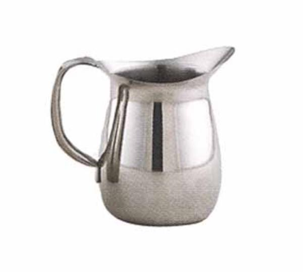 Polar Ware T9202 2 qt Water Pitcher, Stainless Steel, Bell Shaped