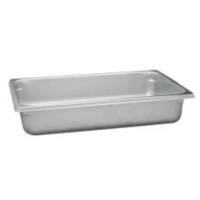 Polar Ware VX114 14-1/2 qt Value Series Steam Table Pan, Full Size, 4 in Deep, Solid