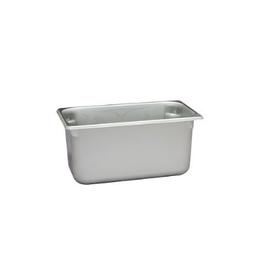 Polar Ware VX136 6-1/4 qt Value Series Steam Table Pan, Third Size, 6 in Deep, Solid
