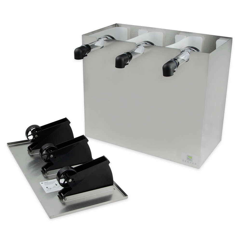 Server 07040 Countertop 3-Pump Dispenser For 3-Pouches, Stainless Base