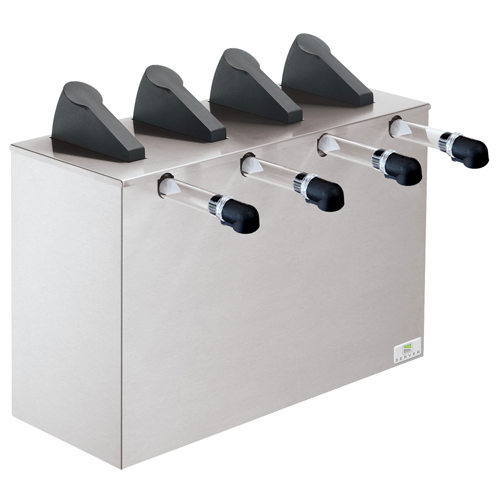 Server 07200 Countertop 4-Pump Dispenser For 4-Pouches, Stainless Base