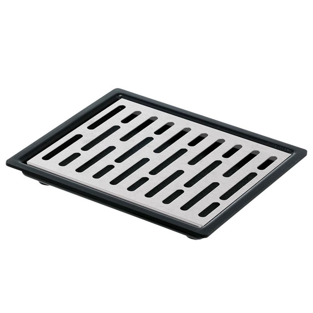 "Server 07291 Single Drip Tray Assembly, 6-7/8"" X 5-7/8 in, Set On or Drop-In Countertop"