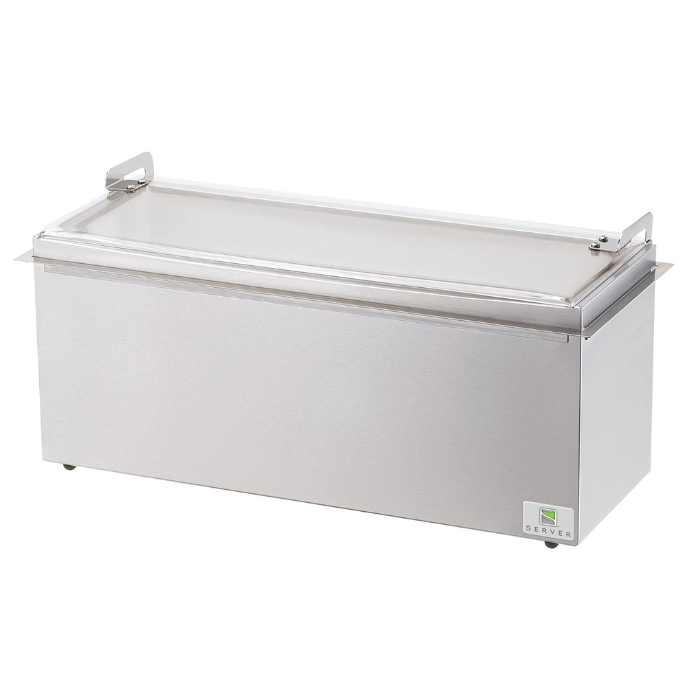 Server Products 67160 Relish Server, Drop-In, 3-Pan, Insulated, Hinged Lid