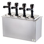Server Products 79840 4-Pump Serving Bar, Insulated Drop In Design, Flange