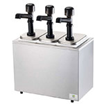 Server Products 79860 Server Solution Syrup Rail, Countertop, 3 Pumps & Pans, SS