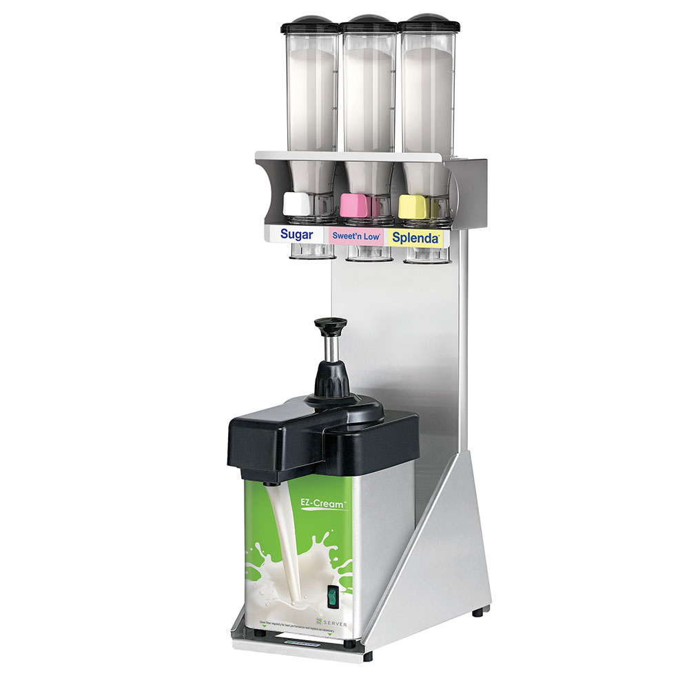 Server 80105 Beverage Station w/ Preset Portions, Dairy & Sweet Dispenser, Stainless