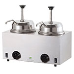 Server Products 81230 Twin Fudge Server, Pumps, SS, Use #10 Can or 3 qt Jar, 120 V
