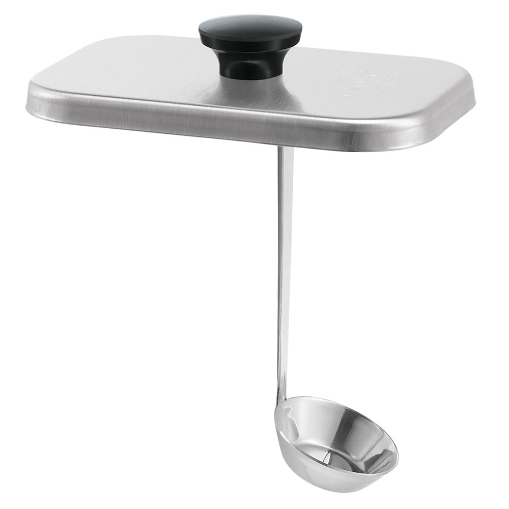 "Server 82595 Lid & Short Ladle for 7"" Fountain Jars, Stainless"