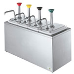 Server 82830 Syrup Rail, 4 Fountain Jars, 4 Pumps, SS