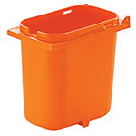 Server 83148 2-qt Fountain Jar w/ Notch for Ladle, Polypropylene, Orange