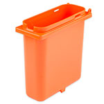 Server 83158 1.5-qt Slim Fountain Jar w/ Notch for Ladle, Polypropylene, Orange