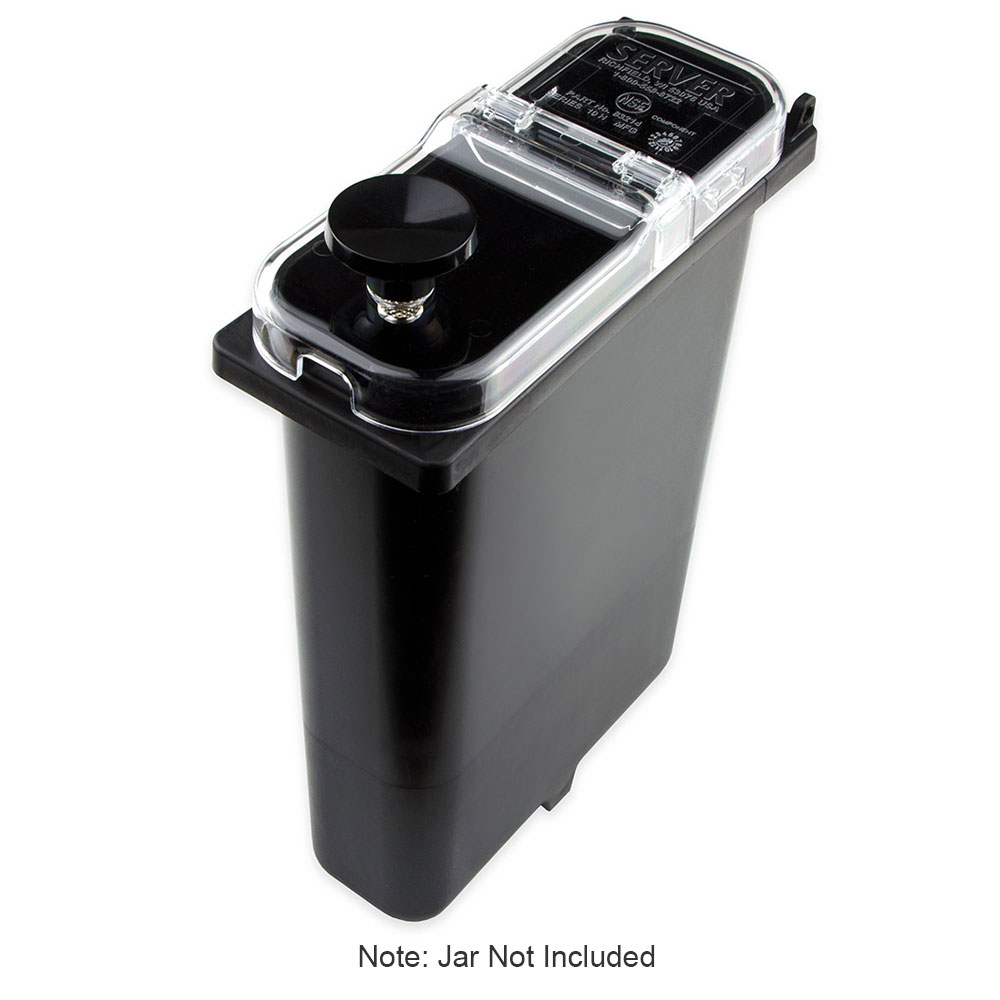 Server 83214 Hinged Lid for Slim Fountain Jars, Plastic, Clear
