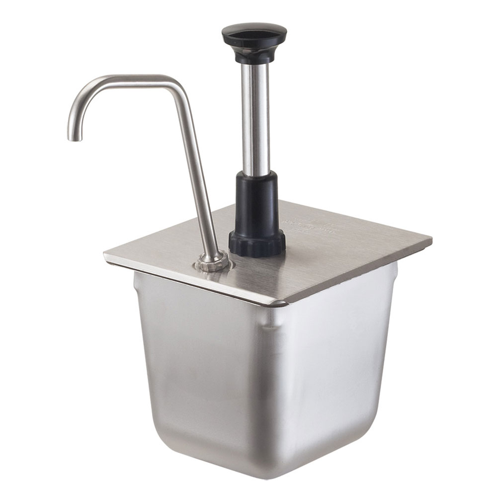 Server Products 83400 Condiment Pump, SS, Uses 1/6 Steam Pan 6 in Deep, NSF
