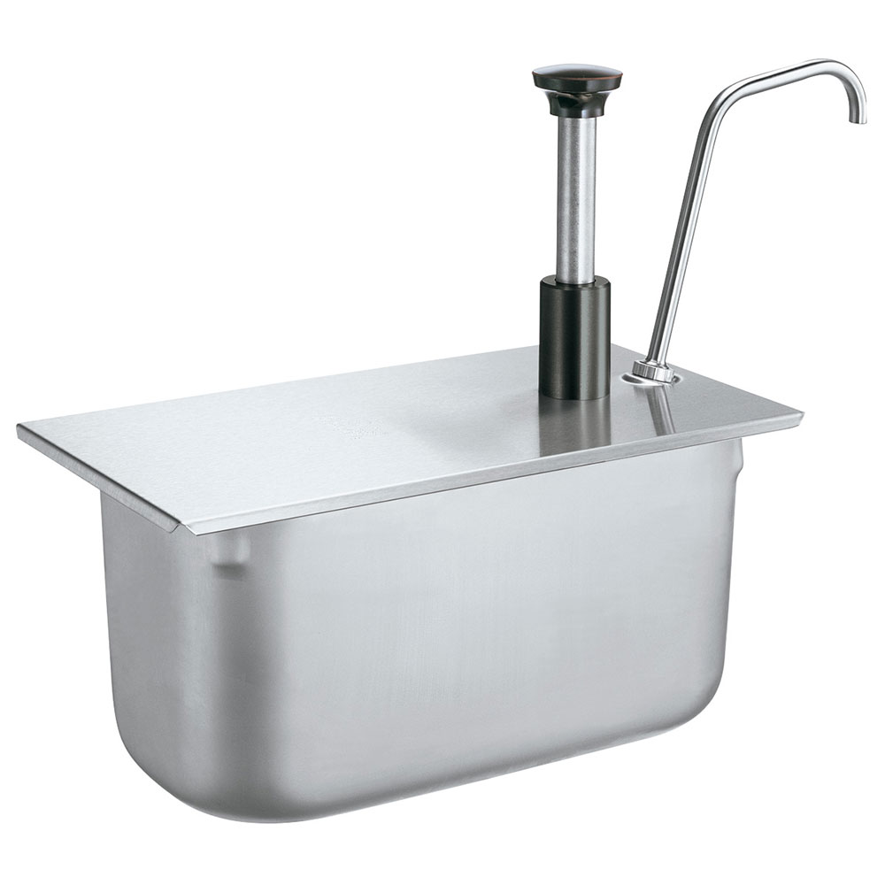 Server Products 83420 Condiment Pump, SS, Uses 1/4 Steam Pan 6 in Deep, NSF