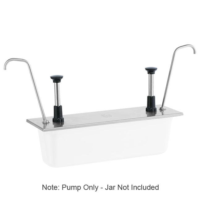 Server Products 83480 Condiment Pump, SS, Uses 1/2 Steam Pan 6 in Deep, NSF
