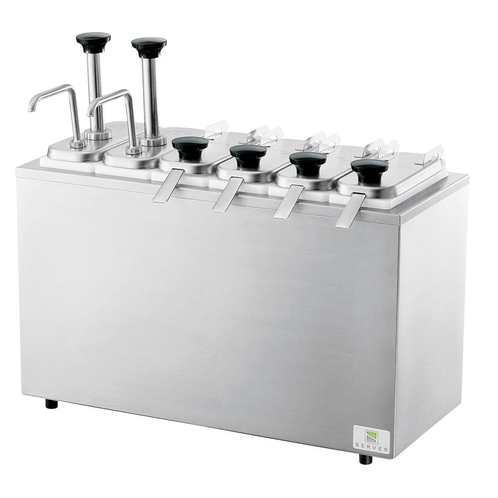 Server 83600 Serving Bar Base holds (4) Standard Fountain Jars, Stainless