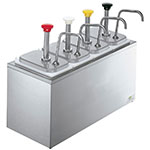 Server 83700 Serving Bar, 4 Fountain Jars, 4 Pumps, SS