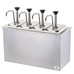 Server 83720 Pump Style Condiment Dispenser w/ (4) 1.25-oz/Stroke, Stainless