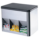 Server Products 85090 Portion Pack Organizer, 3 Compartment, SS & ABS