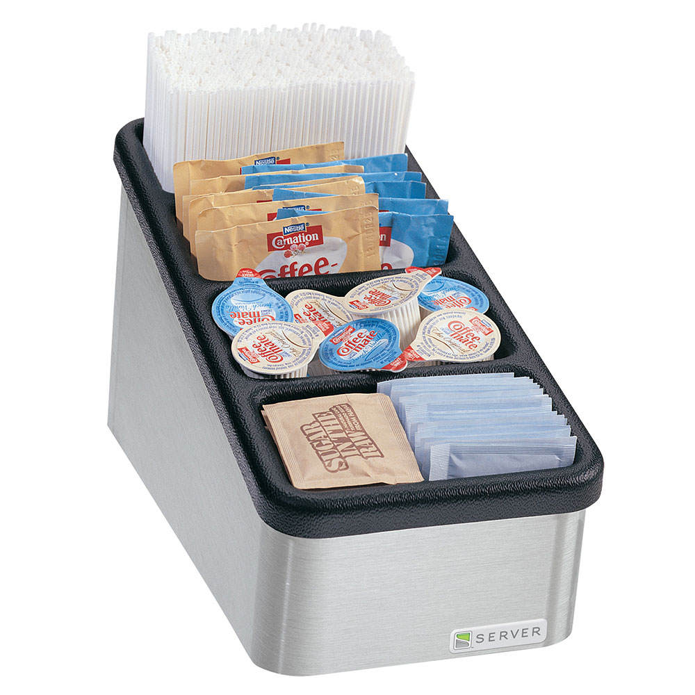 Server Products 85120 Countertop Organizer, Slanted, 4 Compartments 3 in Deep, NSF