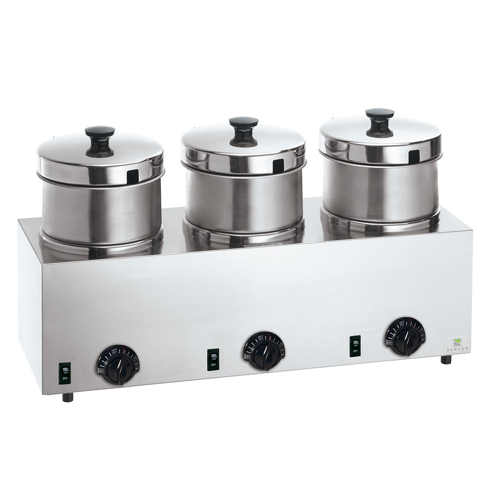 Server 85900 Food Server Warmer w/ (3) 4-qt Insets & Lids...
