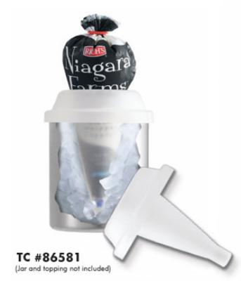 Server Products 86581 Topping Caddy, Countertop, Whipped Topping Bag Storage, Ice Fill