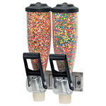 Server 86640 Dry Product Dispenser, Double, (2) 2 liter, Wall  Mount