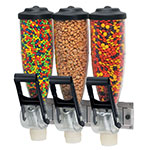 Server 86660 Dry Product Dispenser, Triple, (3) 2 liter, Wall  Mount