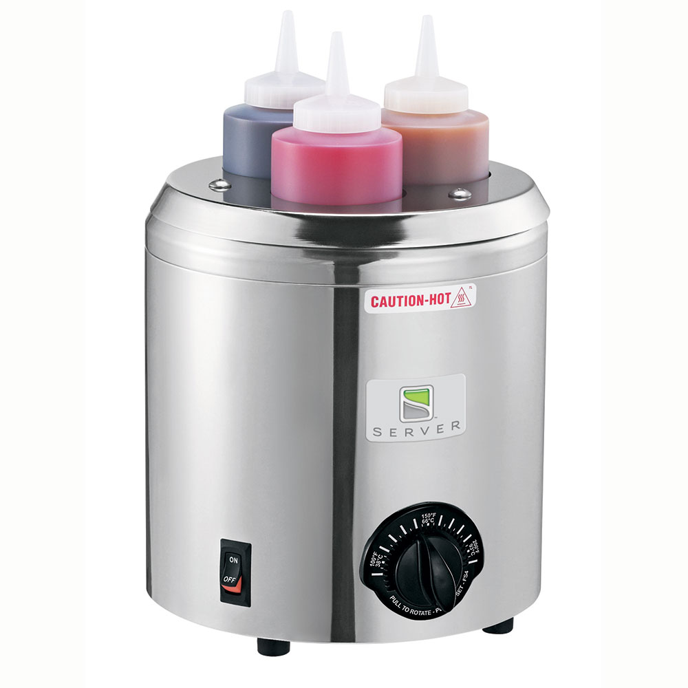 Server 86810 Topping Warmer, Includes (3) 16-oz Squeeze Bottles