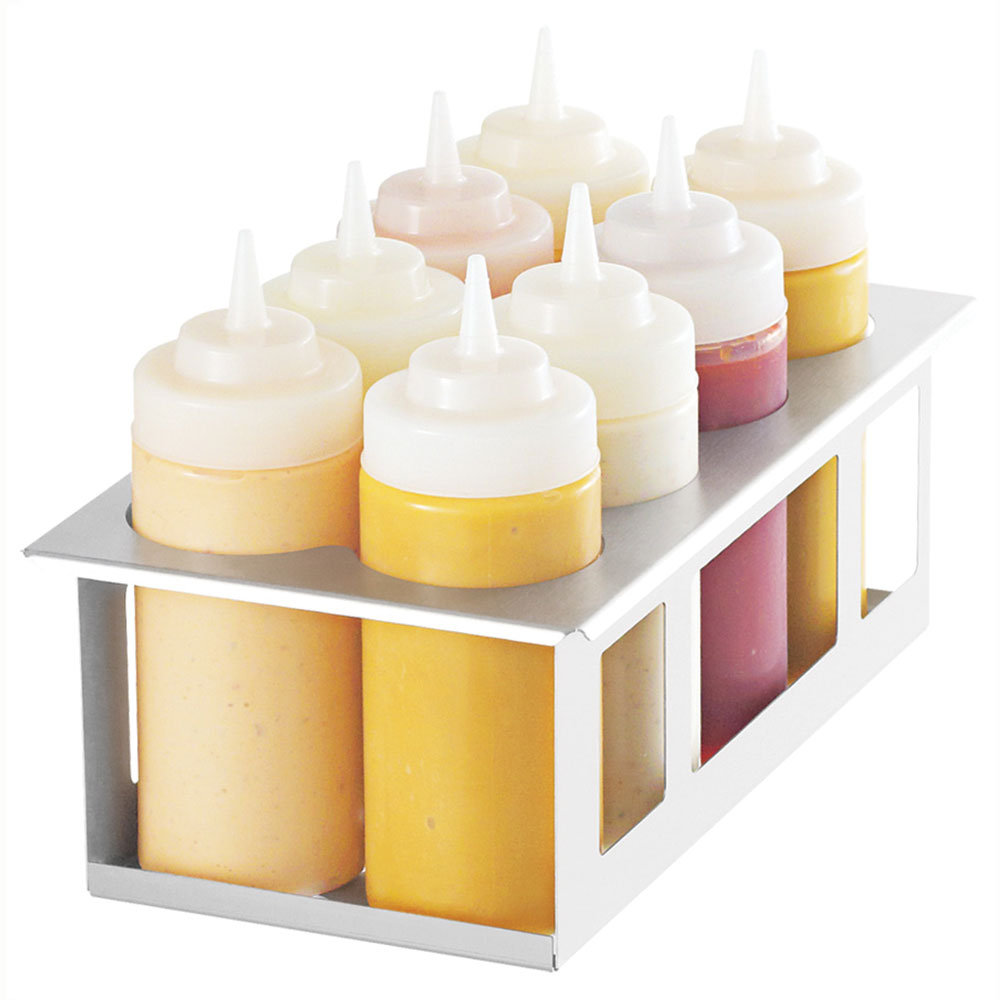 Server 86974 Squeeze Bottle Holder w/ (8) 16-oz Bottles