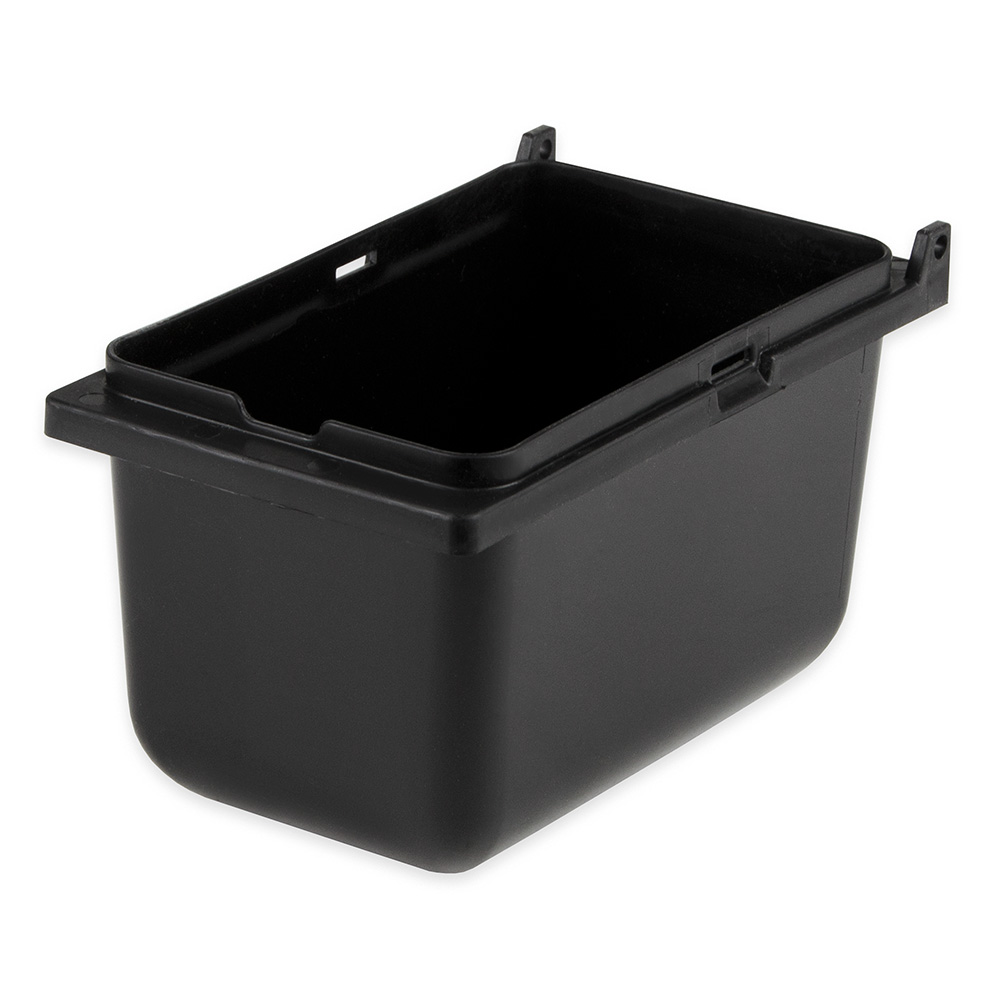 "Server 87202 Jar, Blk Plastic, Lid Not Included for Server Mini Rails, 1/9 Size, 3 1/2""D"