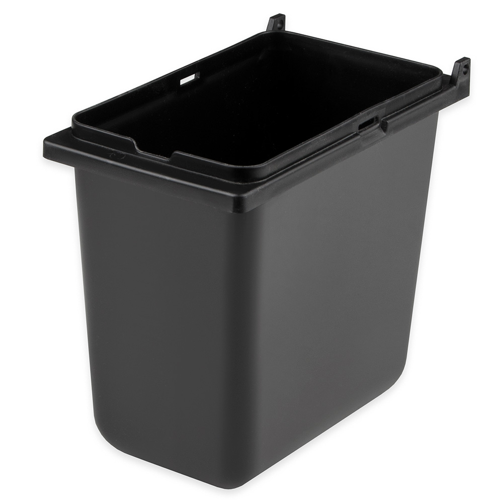 "Server 87203 Jar, Blk Plastic, Lid Not Included for Server Mini Rails, 1/9 Size, 6""D"