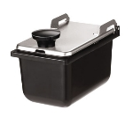 Server Products 87228 Jar & Stainless Steel Hinged Lid, Use with Mini Rails, 1/9 Size, 3 1/2in Deep
