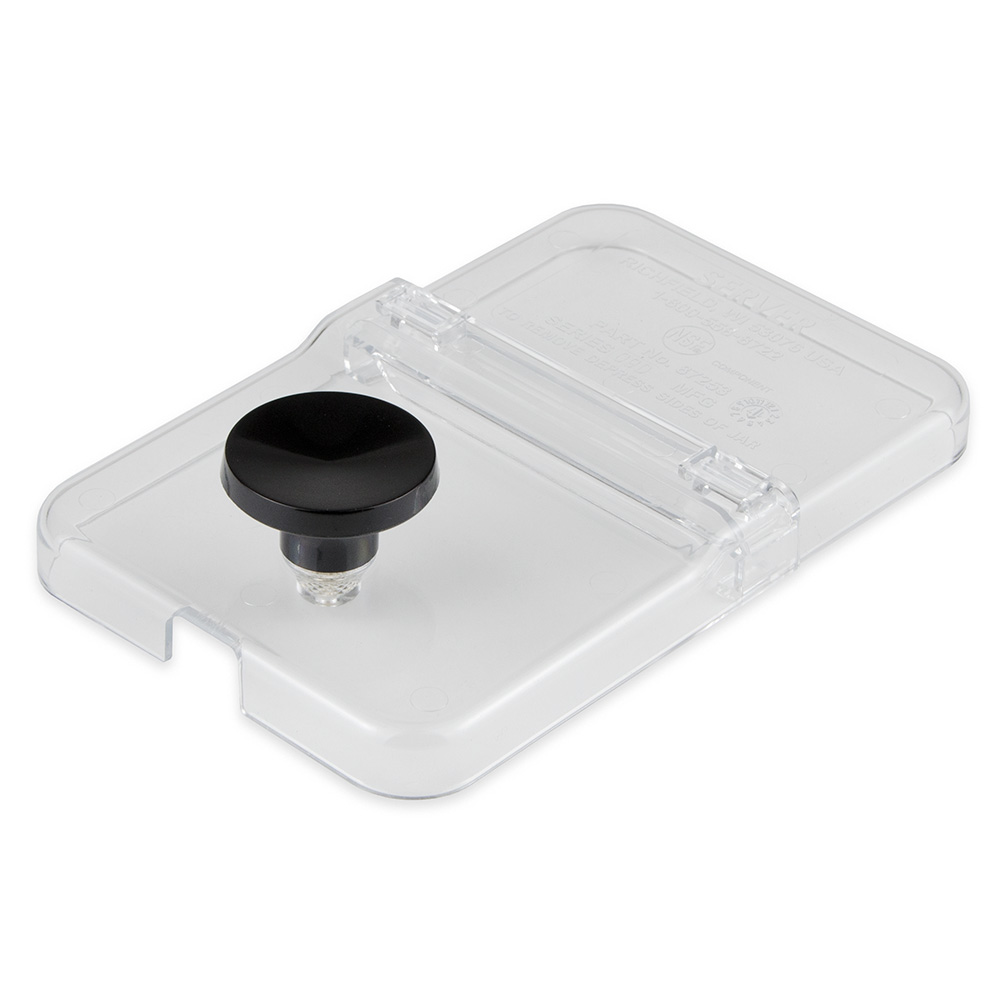 Server 87253 Hinged Lid For 1/9-Size Jar, Clear Plastic