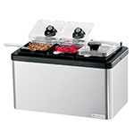 Server 87330 Mini Bar Combo - (3)1/9-Size Jars with Lids, Stainless