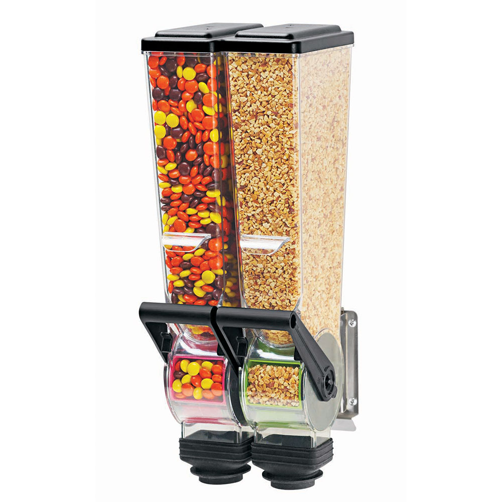 Server 88760 Dry Product Dispenser, Double, (2) 2 Liter, Wall Mount