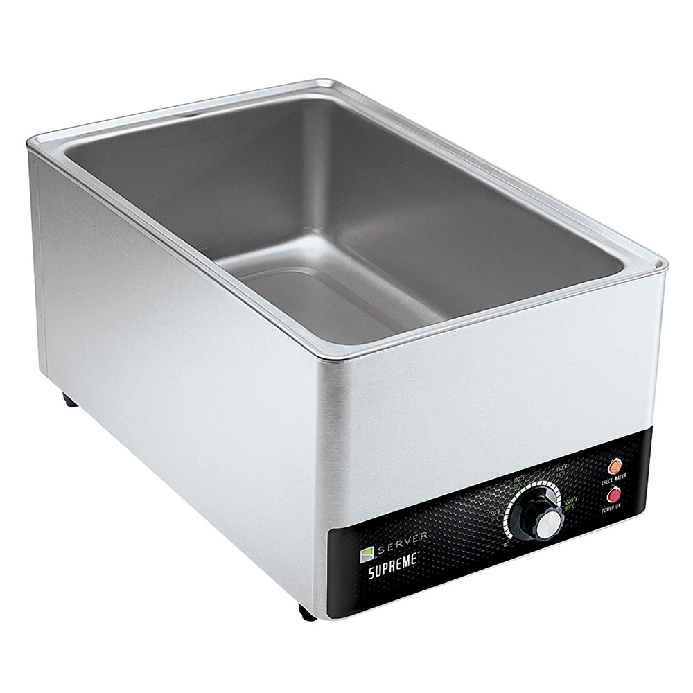 Server 90020 20-qt Supreme Full Size Pan Warmer - Thermostatically Controlled, Stainless Steel
