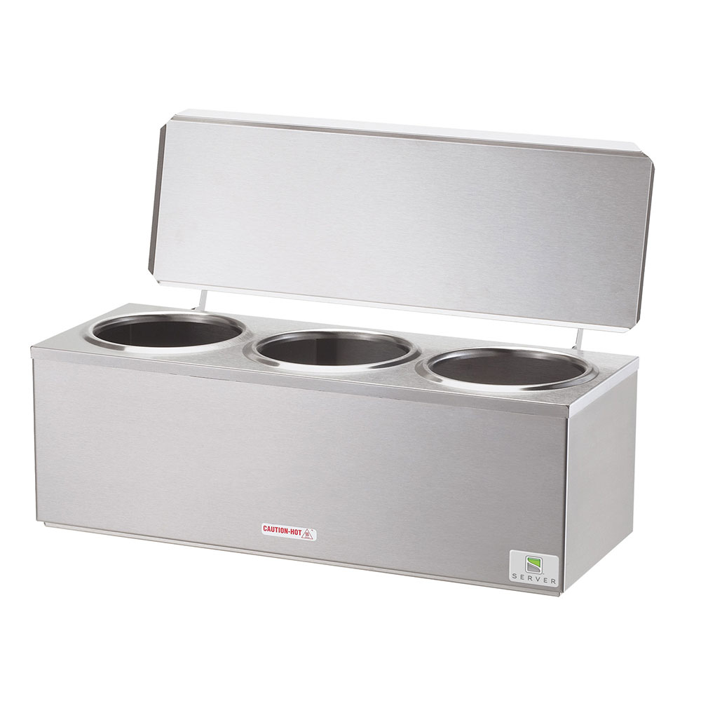 Server Products 92040 Triple Dip Countertop Server, Cone Dip Warmer, Stainless, 120v